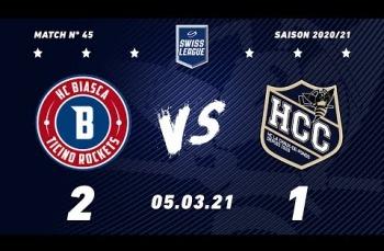 Embedded thumbnail for HCB Ticino Rockets - HC La Chaux-de-Fonds (2-1)