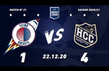 Embedded thumbnail for HCB Ticino Rockets - HC La Chaux-de-Fonds (1-4)